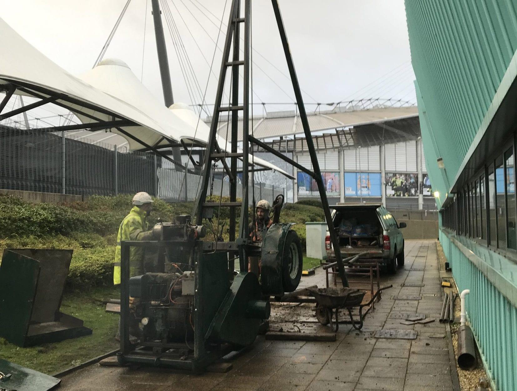Geotechnical investigations at Manchester Etihad Stadium